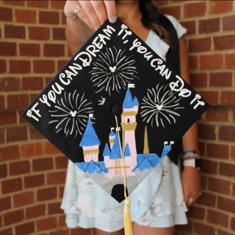Disney Castle Grad Cap Graduation Cap Decoration Disney Graduation Cap Disney Grad Caps