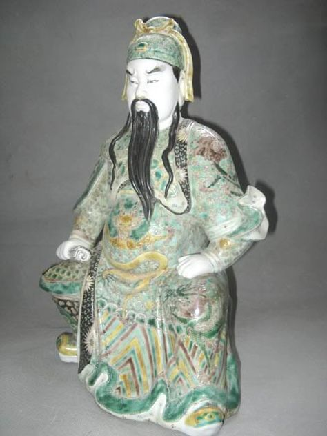 Chinese Famille Rose Porcelain Hero Guan Yu Guan Gong S Chinese - China unveils colossal 1320 ton god of war statue