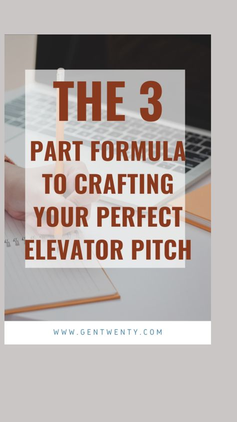 Tips for your elevator pitch