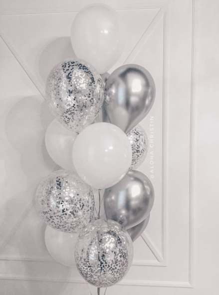 Black White Silver Party Winter Party Decorations 50th