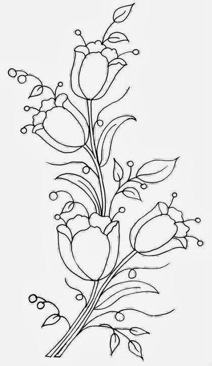 Cicek Desenleri Cizimi Kolay Crewel Embroidery Oya Ornekleri