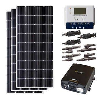 Grape Solar 600w Off Grid Solar Panel Kit In 2021 Solar Panel Kits Off Grid Solar Panels Diy Solar Panel