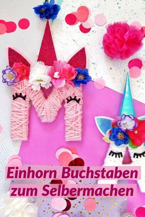 Photo of Einhorn Buchstaben aus Karton und Wolle selber machen – kleinliebchen