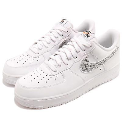 Nike Air Force 1 07 Lv8 Jdi Lntc White Black Just Do It Pack Af1 Shoe Bq5361 100 Nike Af1 Shoes Nike Air Force