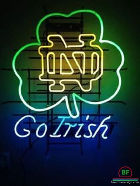 New University of Notre Dame Go Irish Beer Pub Bar Neon Sign