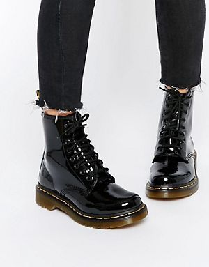 Dr martens boots, Patent leather boots