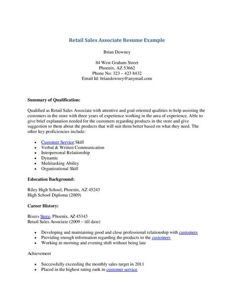 Stockroom Manager Resume -    wwwresumecareerinfo stockroom - retail sales associate resume