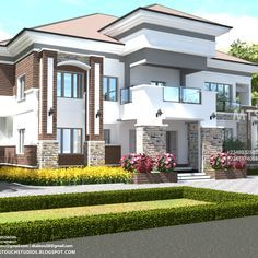 Home House Housestyles Duplex Nigeria Housedesign Homedecor Houseexterior 6 Bedroom Duplex De In 2020 Duplex House Design Duplex Design Bungalow House Design