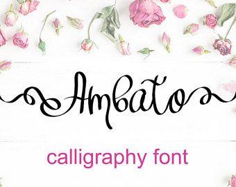 Fonts lettering Fonts Download font Swirly Font Script Font Digital download swash font Cricut font calligraphy font wedding font bundle