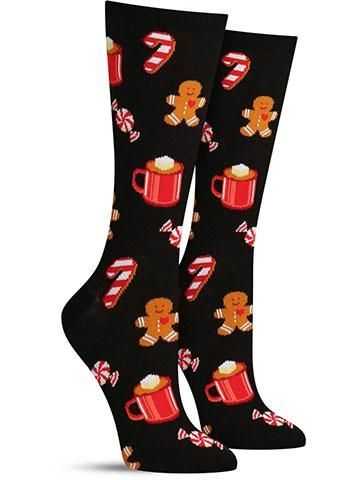 Hot Sox Women/'s Hot Chocolate and Gingerbread Socks