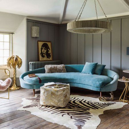 13 Rooms Rocking The Curved Furniture Trend Hunker Curved Sofa Living Room Round Sofa Curved Furniture