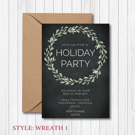 HOLIDAY PARTY INVITATION - Christmas Party - Work Party - Digital