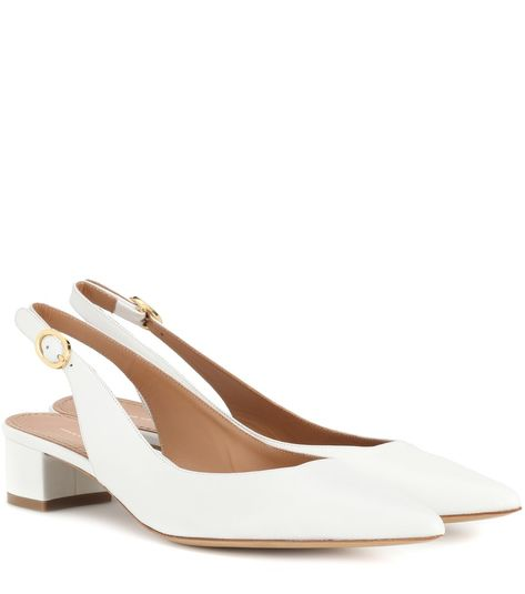 21aa27621a3 Mansur Gavriel - Leather slingback pumps - Timeless in white