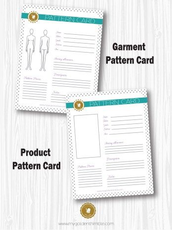 Free Pattern Card My Golden Thimble Card Patterns Sewing Patterns For Kids Easy Sewing Patterns