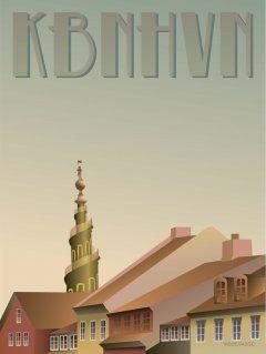 Vissevasse Plakat Kbnhvn Christianshavn Plakater Rejseplakater Danmark