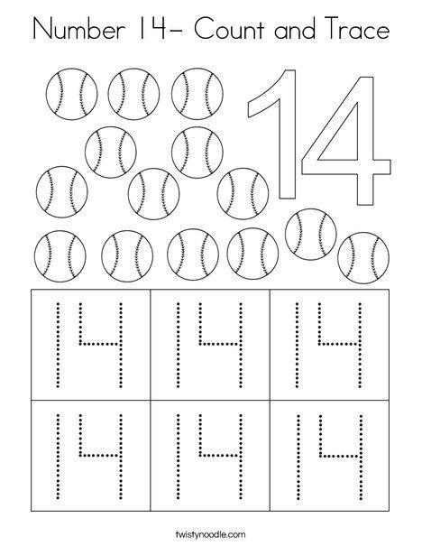 Pin On Numbers Preschool