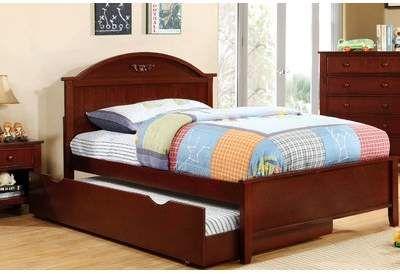 Hokku Designs Shoreman Platform Bed Size Twin Color Cherry