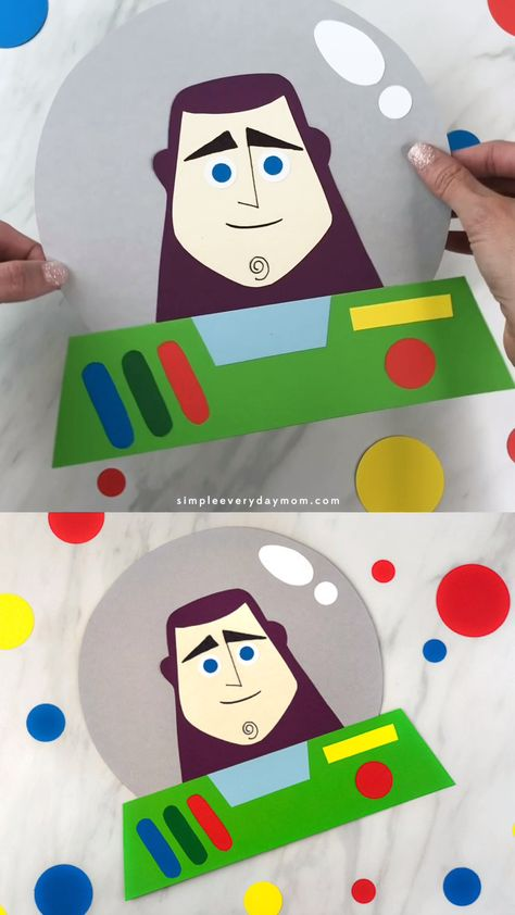 Learn how to make this easy DIY Buzz Lightyear craft for kids to celebrate Disney Pixar's Toy Story 4. It's a simple and fun Disney activity for boys & girls!