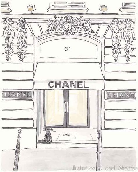 Illustration De Chanel Boutique Paris Impression Jet D Encre