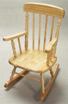 Vintage Children S Rocking Chair Oak Wood Brown By Calloohcallay