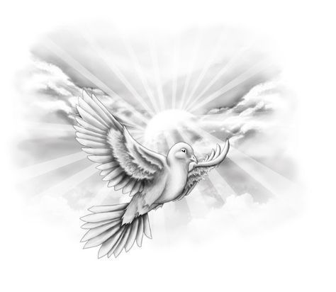 Free designs - White dove on the sky tattoo wallpaper