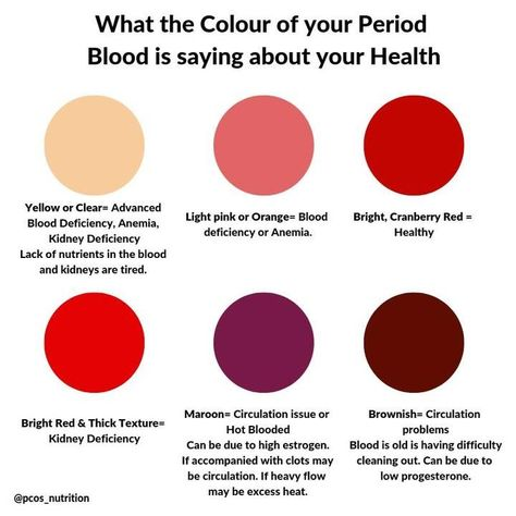 Period blood color
