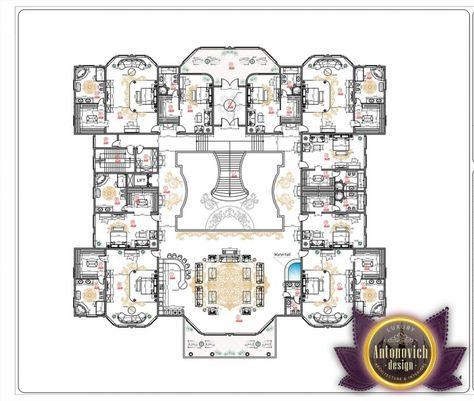 Luxury House Plans In Uae By Antonovich Designs Luxury House Floor Plans Luxury House Plans Luxury Floor Plans
