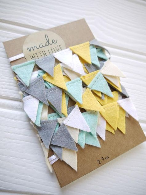 Reusable The post Mini bunting grey yellow blue white felt garland. Reusable appeared first on Deco. Mini Bunting, Felt Bunting, Party Bunting, Felt Garland, Fabric Bunting, Bunting Garland, Felt Ornaments, Blue Bunting, Buntings