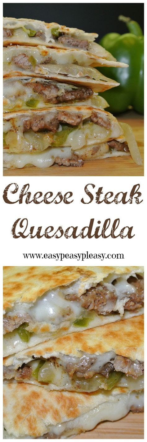 Quesadillas are in regular rotation at my house but sometimes I need a change. Cheese Steak Quesadillas are the perfect twist on this Tex-Mex classic.