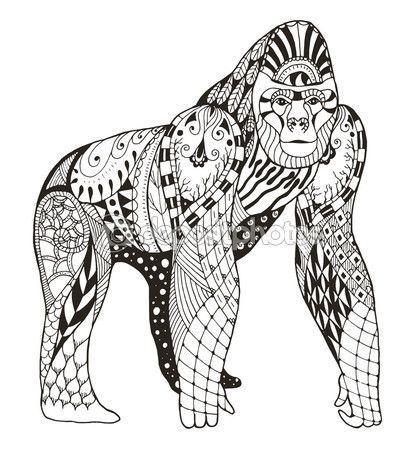 Coloriage Mandala Gorille Coloriage Mandala Coloriage Mandala Animaux Lion Coloriage