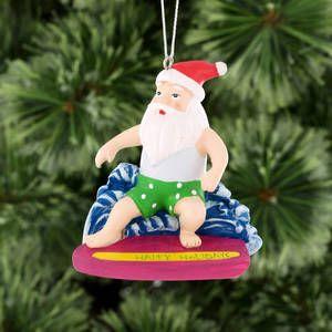 Christmas Summer Snorkelling Santa Ornament Big W Santa Ornaments Christmas Christmas Decorations