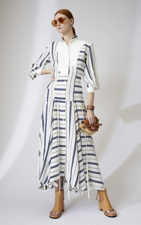 Striped Poplin Shirtdress by Loewe