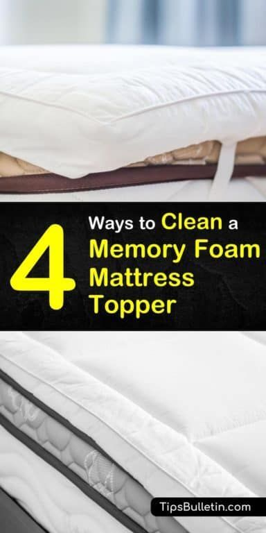 Try These 3 Easy Tips For How To Remove Stains From Your Memory Foam Topper Instead Of Th Foam Mattress Topper Memory Foam Mattress Topper Memory Foam Mattress