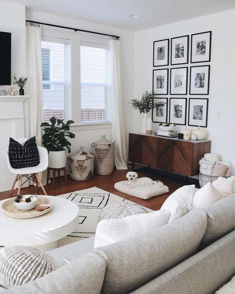 40 Charming Bohemian Living Room Decor Ideas Dengan Gambar