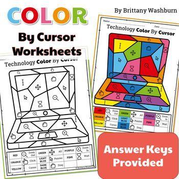 Technology Color By Cursor Printable Worksheets Kindergarten Technology Activities Printable Worksheets Kindergarten Technology Kindergarten computer worksheets