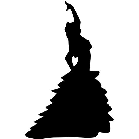 Download Female Flamenco Dancer Silhouette Posture With Raised Left Arm For Free Flamenco Dancers Dancer Silhouette Spanish Dancer