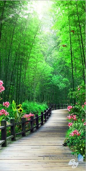 Forest Nature Flowers Wall Murals Idecoroom In 2020 Beautiful Landscape Wallpaper Green Scenery Scenery Wallpaper