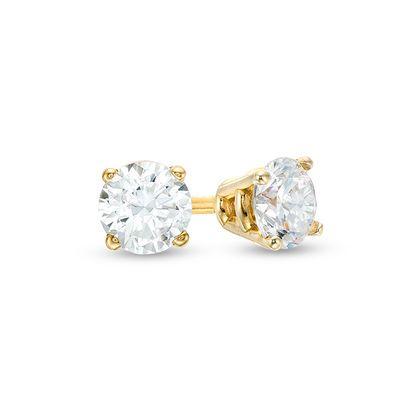 Zales Jewelry Gold Earrings In 2020 Yellow Gold Earrings Studs Blue Crystal Earrings Gold Jewelry Earrings