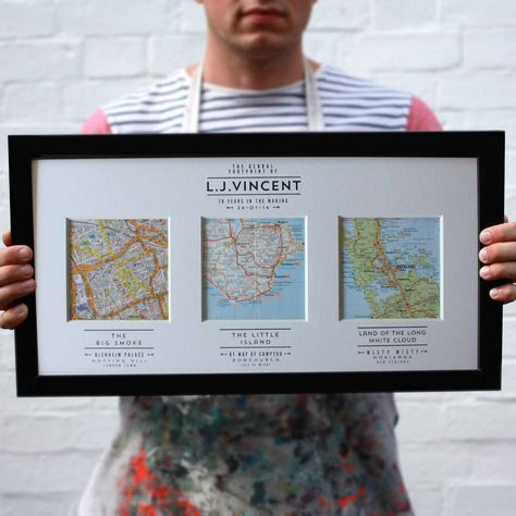 Your Story. Mapped Out. Personalised Map Art by Basil & Ford via Not on the High Street