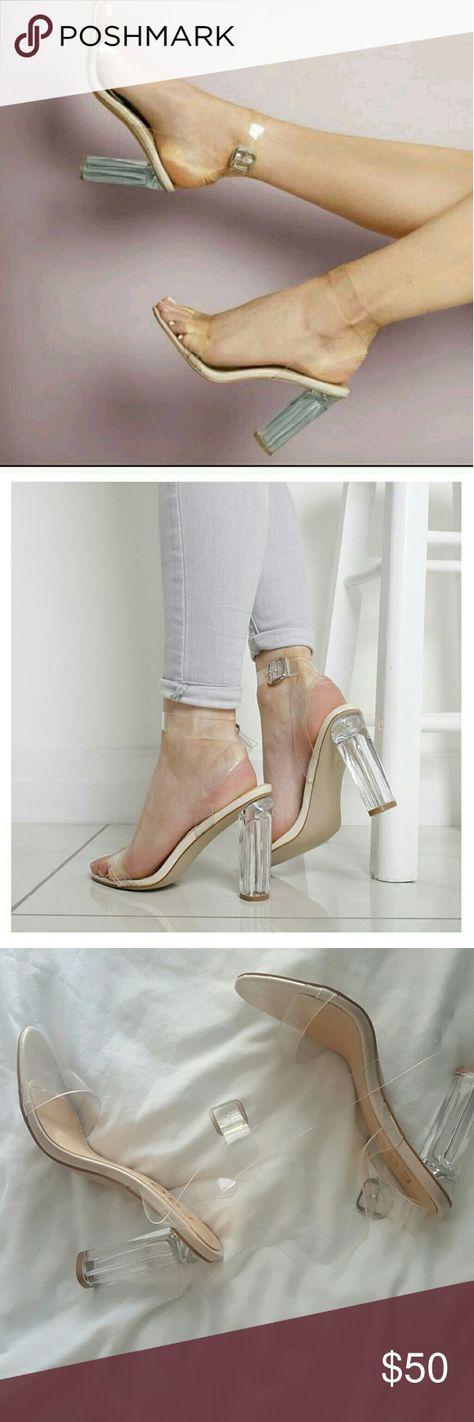 a8aad07d0 Clear Strap Sandal Heel Yeezy Season 2 Super cute clear strap heel. I m