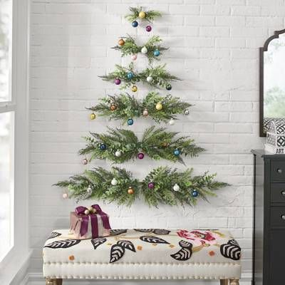 Wall Hanging Christmas Tree With Images Wall Mounted Christmas Tree Wall Christmas Tree Hanging Christmas Tree