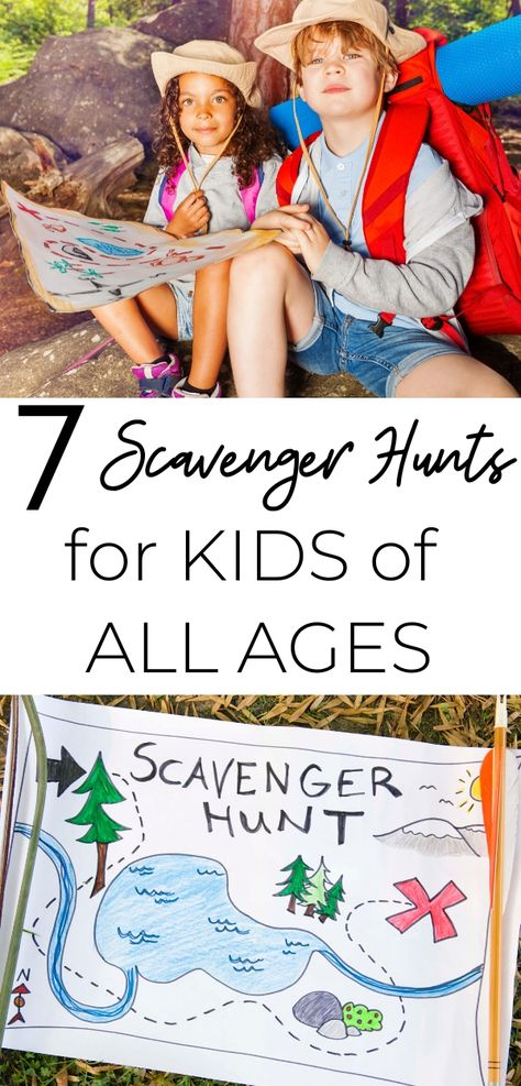 If you're looking for some fun (and partially educational) activities to do with your kids, these scavenger hunts are just what you need! Activies For Kids, Camping Activites For Kids, Children's Day Activities, School Age Activities, Childcare Activities, Water Games For Kids, Outdoor Games For Kids, Outdoor Activities For Kids, Educational Activities