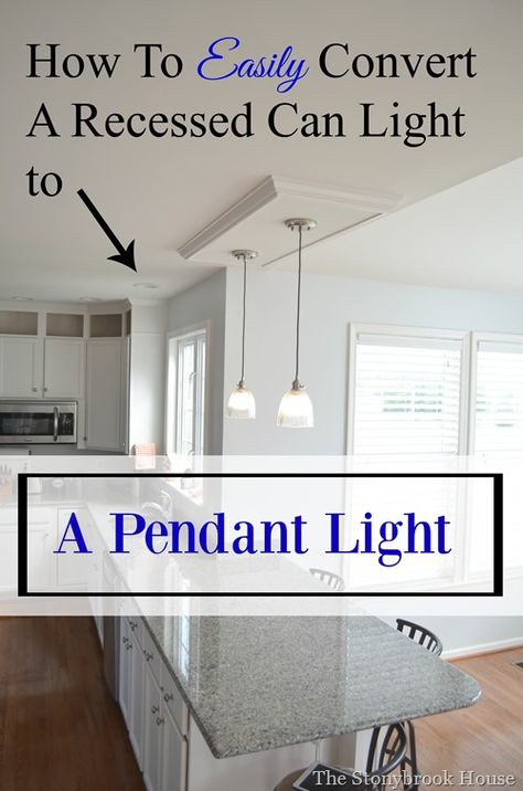 5 Minute Light Upgrade - Converting a Recessed Light to a Pendant ...