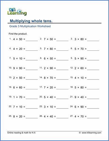Free 3rd Grade Worksheets Third Grade Math Worksheets 3rd Grade Math Worksheets Multiplication Worksheets Printable math worksheet 3rd grade
