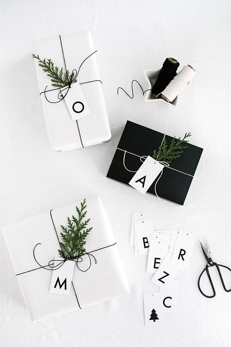 Printable Initial Gift Tags - Homey Oh My