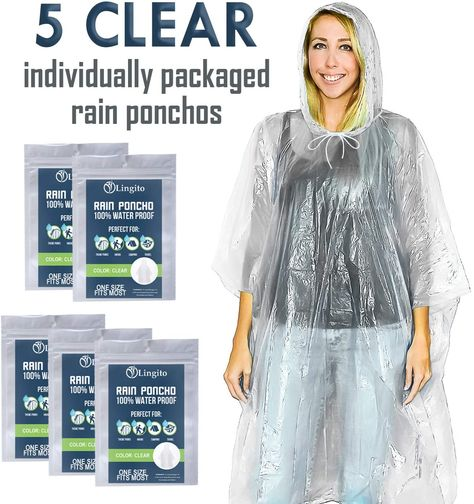 Lingito Clear Emergency Rain Ponchos for AdultsThicker Waterproof Emergency Rain Ponchofor Amusement, Amazon Affiliate link. Click image for detail, #Amazon #lingito #clear #emergency #rain #ponchos #adultsthicker #waterproof #ponchofor #amusement #parkshikescamping #concertsclothing #make #fits #entering #model #numberbuilt #lastwe #ve #designed #durable #thicker #pe #material #perfect #rainy #day #friendswe