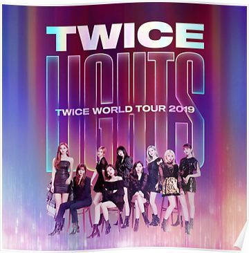 Twice Lights World Tour 2019 Poster By Straykings Concert