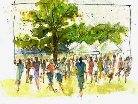 People Who Need Watercolor People Urban Sketching Figure