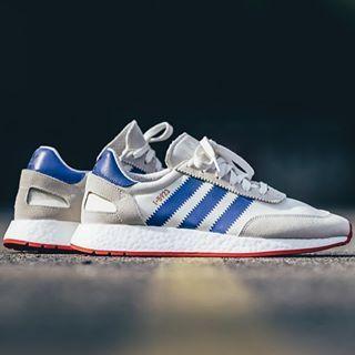 Adidas I 5923 Blanc bleu rouge BB2093 | Adidas, Bleu et
