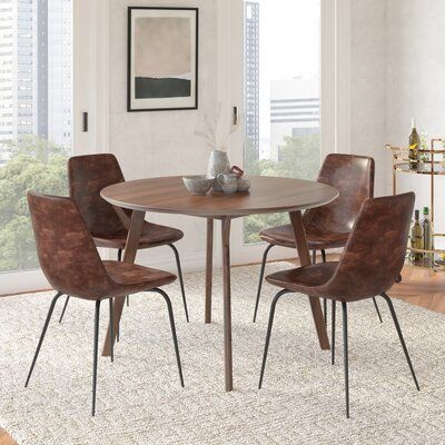 Union Rustic Ryans Upholstered Dining Chair Upholstery Color Tobacco Em 2020